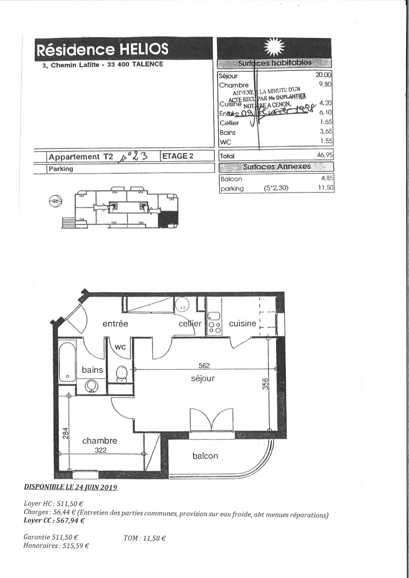 plan appartement gtl